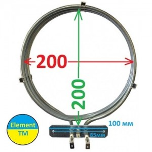 heating element for convection of air into the oven with a total capacity of 3000 watts at 220 V