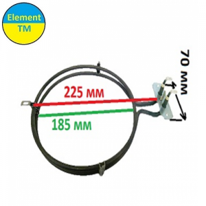 heating element for convection of air into the oven with a total capacity of 1800 watts at 220 V