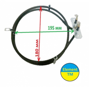 heating element for convection of air into the oven with a total capacity of 2100 watts at 220 V