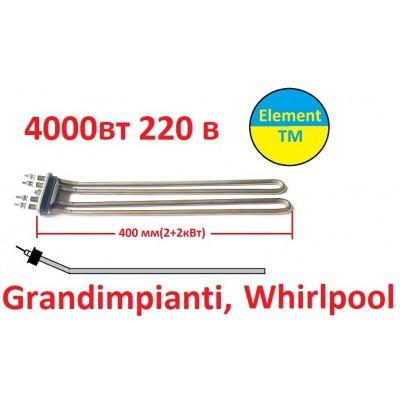 Teng 4000W 230V 1GEL5DV46001 for industrial washing machine Grandimpianti, Whirlpool, Primus